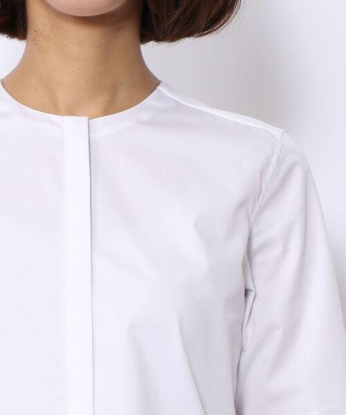 TOMORROWLAND / トゥモローランド シャツ・ブラウス | コットンポリエステル ノーカラーシャツ | 詳細4