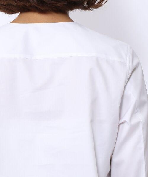 TOMORROWLAND / トゥモローランド シャツ・ブラウス | コットンポリエステル ノーカラーシャツ | 詳細5