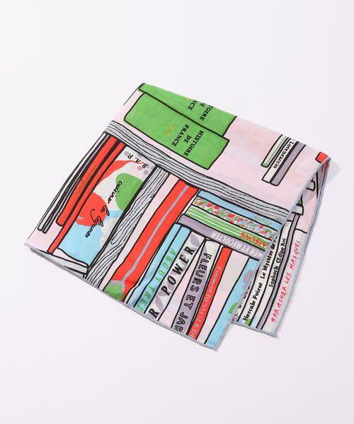 TOMORROWLAND / トゥモローランド バンダナ・スカーフ | 【別注】mii × TOMORROWLAND ビブリオテークプリントスカーフ(32 ピンク系)