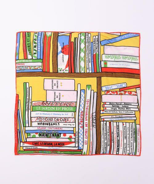 TOMORROWLAND / トゥモローランド バンダナ・スカーフ | 【別注】mii × TOMORROWLAND ビブリオテークプリントスカーフ | 詳細1