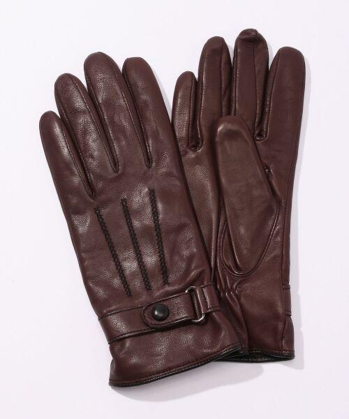 TOMORROWLAND / トゥモローランド 手袋 | Gloves ステッチグローブ(39 ボルドー)