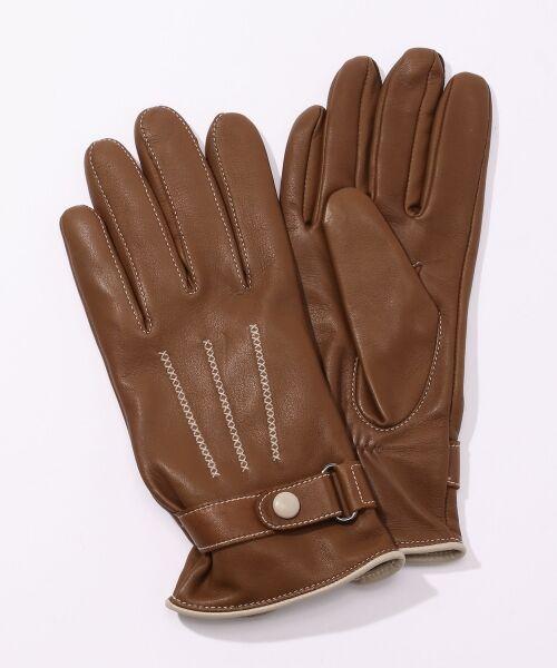 TOMORROWLAND / トゥモローランド 手袋 | Gloves ステッチグローブ(47 ブラウン)
