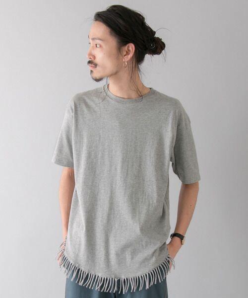 <タカシマヤ> 送料無料! フリンジTシャツ