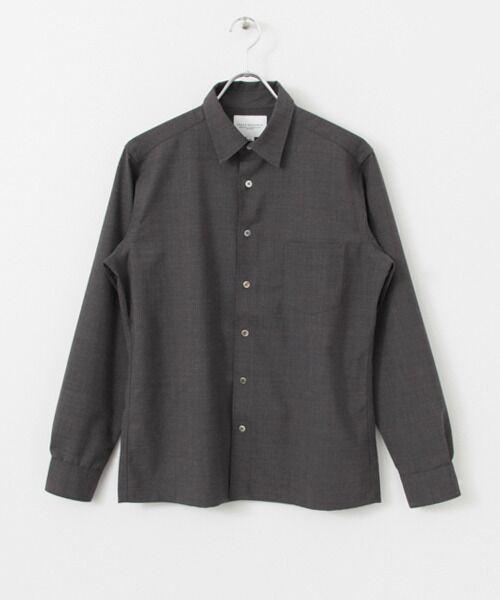 ウールブレンドシャツ【送料無料】