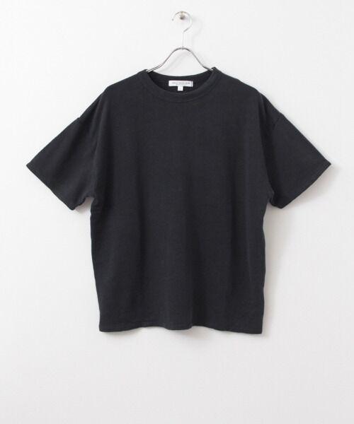 綿麻ミニ裏毛ルーズTシャツ【送料無料】