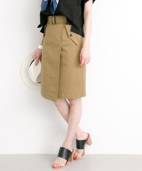 ベルト付トレンチスカート【送料無料】