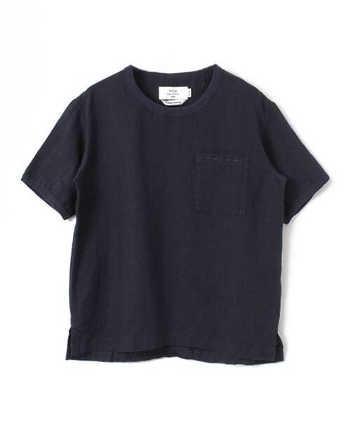 <タカシマヤ> 送料無料! WORK NOT WORK LINEN TRIMMING H/S SHIRTS