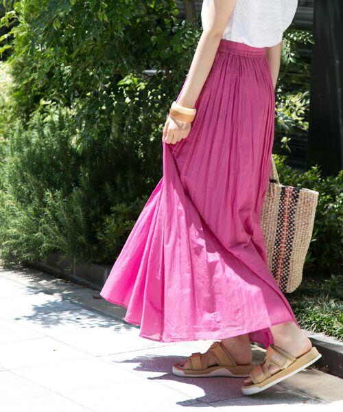 URBAN RESEARCH / アーバンリサーチ スカート | 【予約】コットンシルクギャザースカート(PINK)