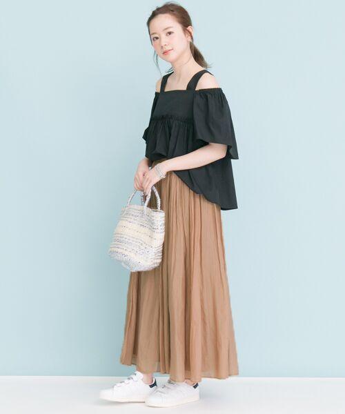 URBAN RESEARCH / アーバンリサーチ スカート | 【予約】コットンシルクギャザースカート | 詳細12