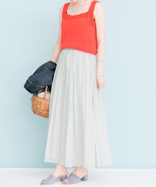 URBAN RESEARCH / アーバンリサーチ スカート | 【予約】コットンシルクギャザースカート | 詳細13