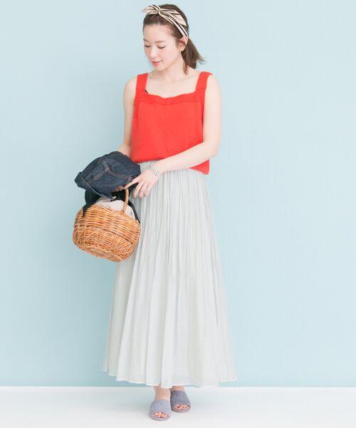 URBAN RESEARCH / アーバンリサーチ スカート | コットンシルクギャザースカート | 詳細14