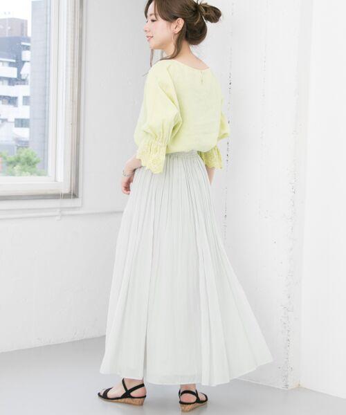 URBAN RESEARCH / アーバンリサーチ スカート | 【予約】コットンシルクギャザースカート | 詳細6