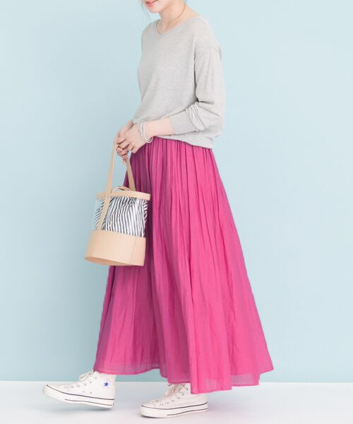 URBAN RESEARCH / アーバンリサーチ スカート | 【予約】コットンシルクギャザースカート | 詳細7