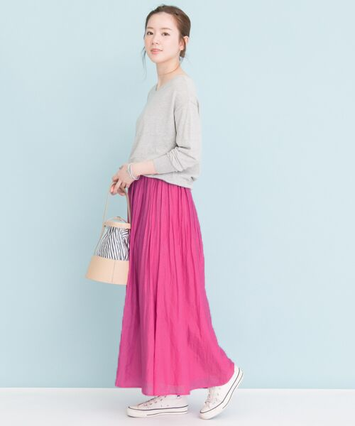 URBAN RESEARCH / アーバンリサーチ スカート | 【予約】コットンシルクギャザースカート | 詳細9
