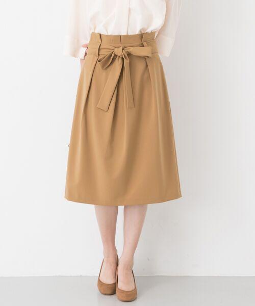 URBAN RESEARCH / アーバンリサーチ スカート | タックコクーンスカート(BEIGE)
