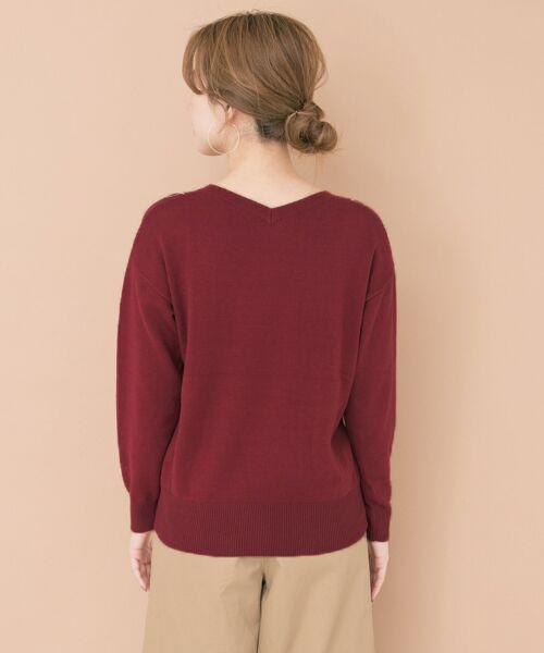 URBAN RESEARCH / アーバンリサーチ ニット・セーター | ペイズリー刺繍ニットプルオーバー | 詳細10