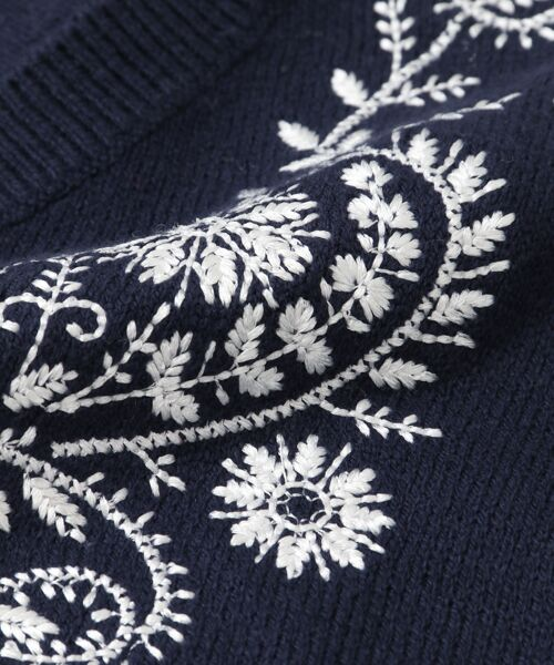 URBAN RESEARCH / アーバンリサーチ ニット・セーター   ペイズリー刺繍ニットプルオーバー   詳細12
