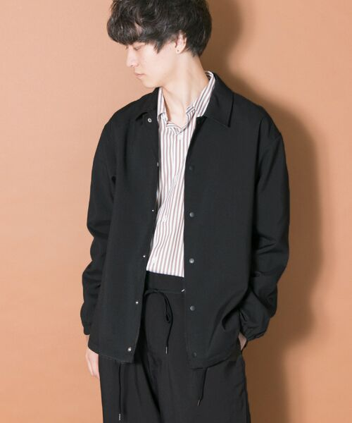 URBAN RESEARCH / アーバンリサーチ ブルゾン | URBAN RESEARCH iD WOOLLY COACH JACKET(BLACK)