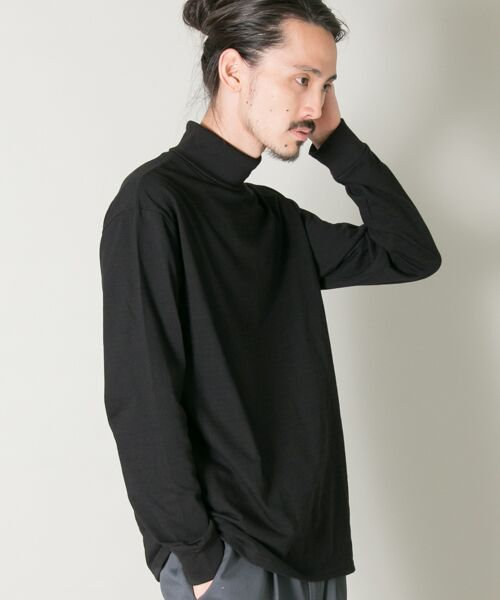 URBAN RESEARCH / アーバンリサーチ Tシャツ | THERMO MAX カットソータートル(ブラック)