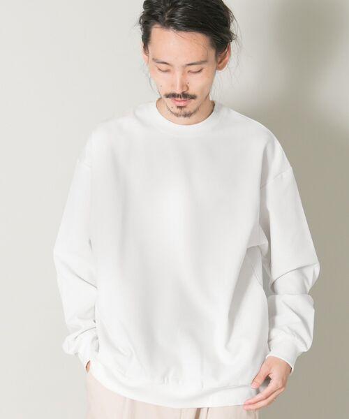 URBAN RESEARCH / アーバンリサーチ Tシャツ | メランジリブロングスリーブTシャツ(white)