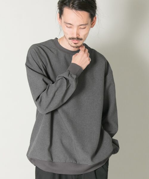 URBAN RESEARCH / アーバンリサーチ Tシャツ | メランジリブロングスリーブTシャツ(ccl)