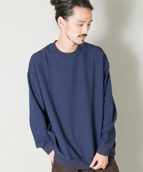 URBAN RESEARCH / アーバンリサーチ Tシャツ | メランジリブロングスリーブTシャツ(blue)