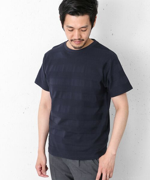 シャドーボーダーショートスリーブ Tシャツ【送料無料】