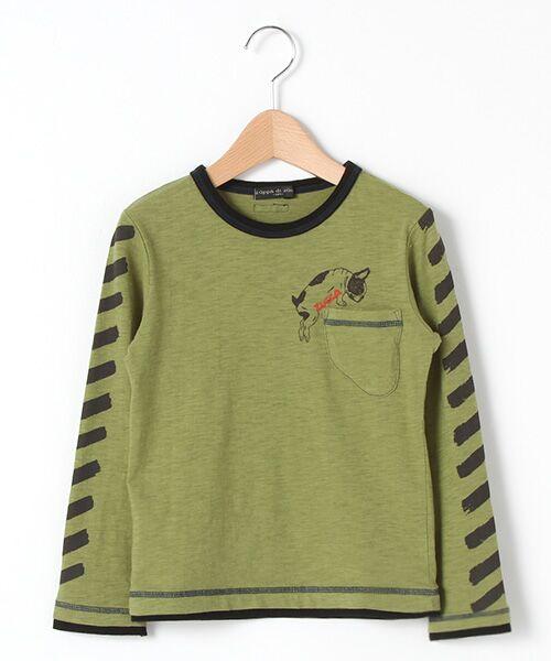 zuppa di zucca / ズッパ ディ ズッカ Tシャツ | 製品洗長袖Tシャツ(カーキ)